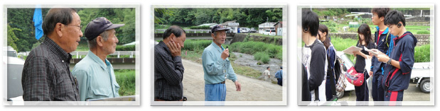 河川漁場保全のためのヨシ刈取りと河川の生態観察