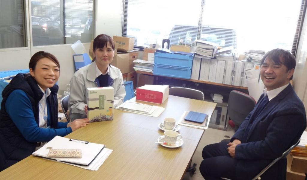 世羅町役場、産業振興課 和泉係長、井口さんと意見交換