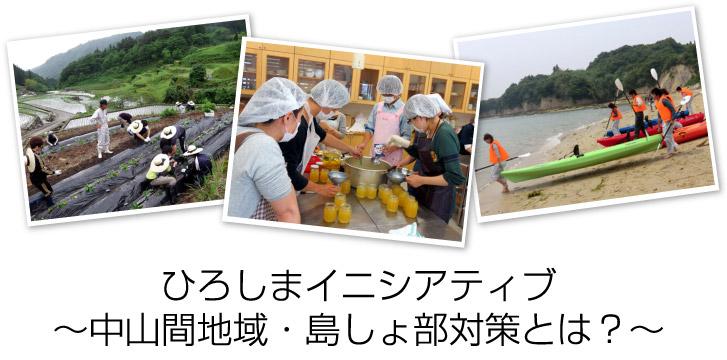 地(知)の拠点大学による地方創生推進事業 広島大学COC 中山間地域島しょ部対策で地方創生
