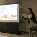 地(知)の拠点整備事業 呉市における地域活性化研究報告会で学生が発表しました。
